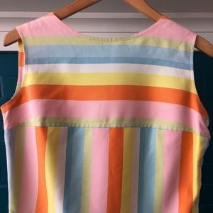 Vintage striped sleeveless top